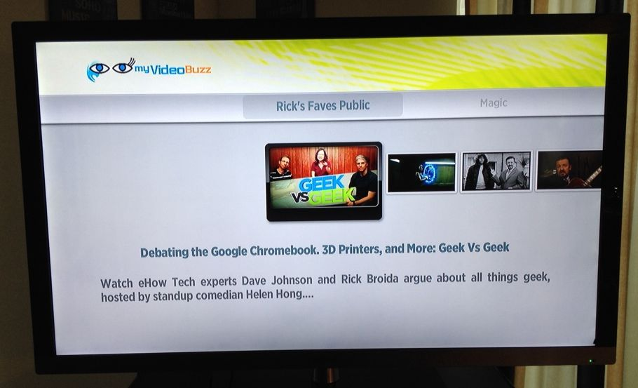 The MyVideoBuzz channel brings YouTube to Roku boxes.
