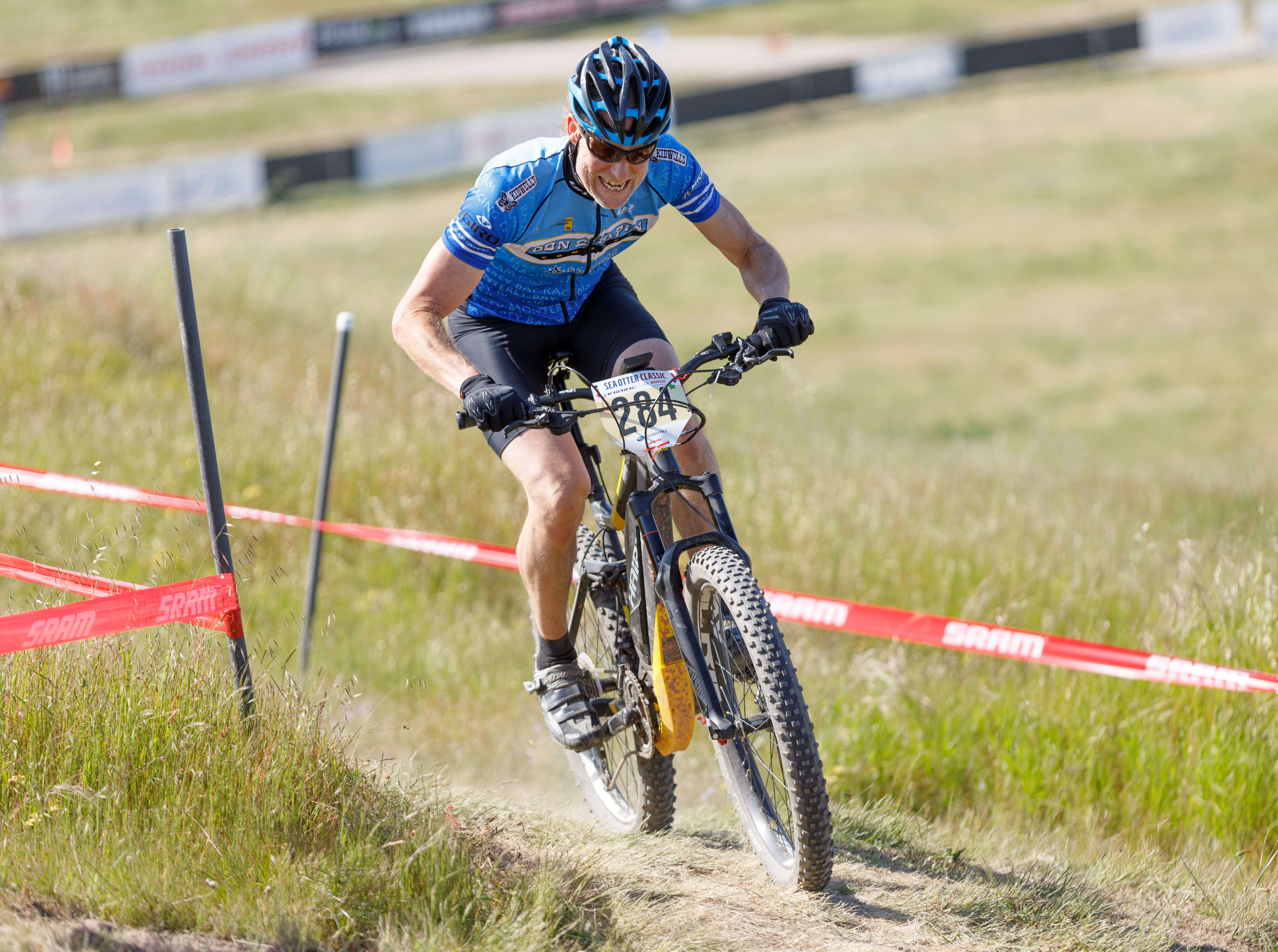 Monterey cyclist Chris Toplarski thought the Sea Otter Classic e-mountain bike race would be fun -- but then his competitive instincts kicked in.