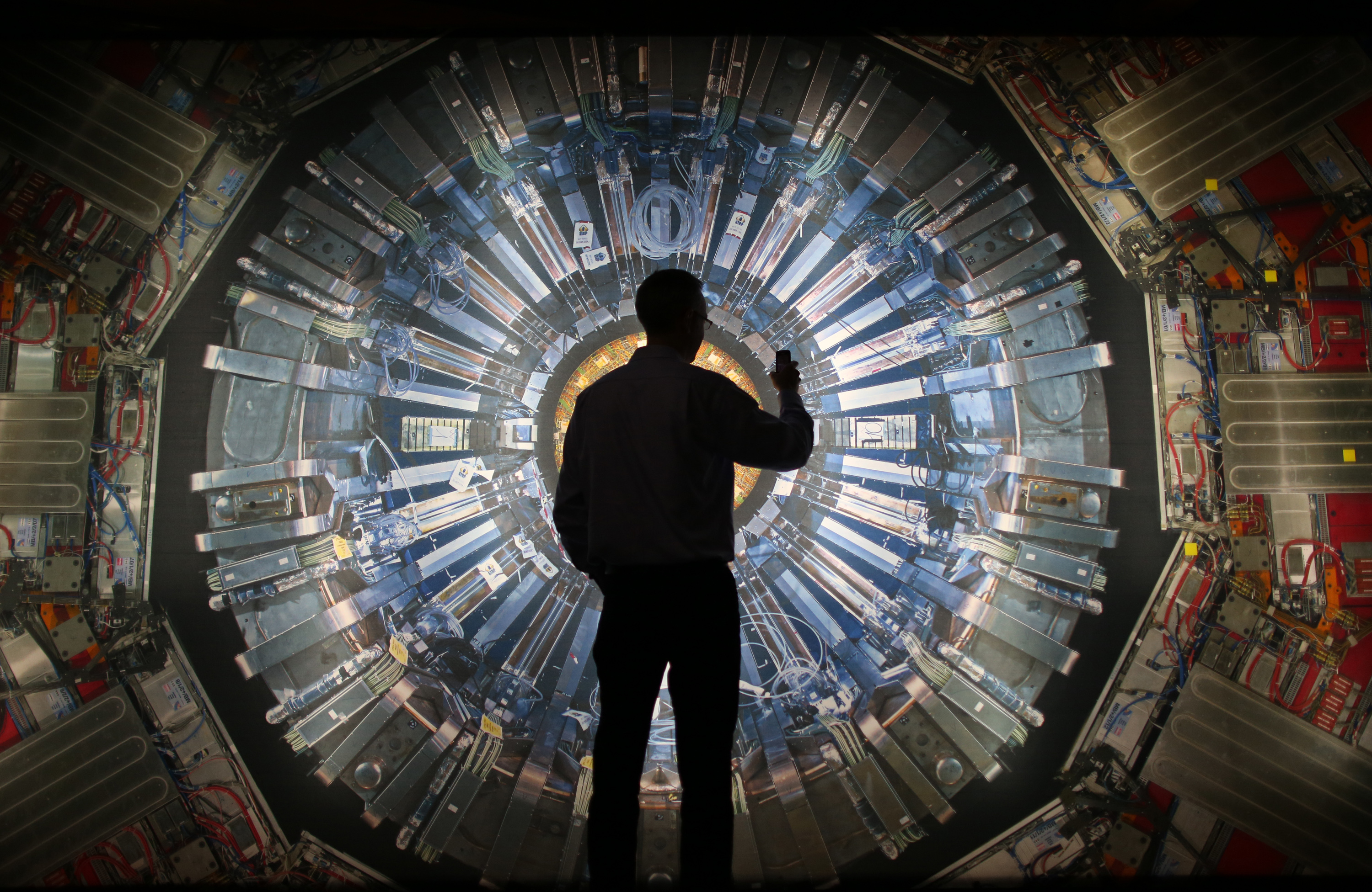 Backlit image of the Large Hadron Collider