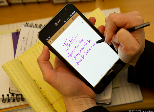 Writing with the Samsung Galaxy Note