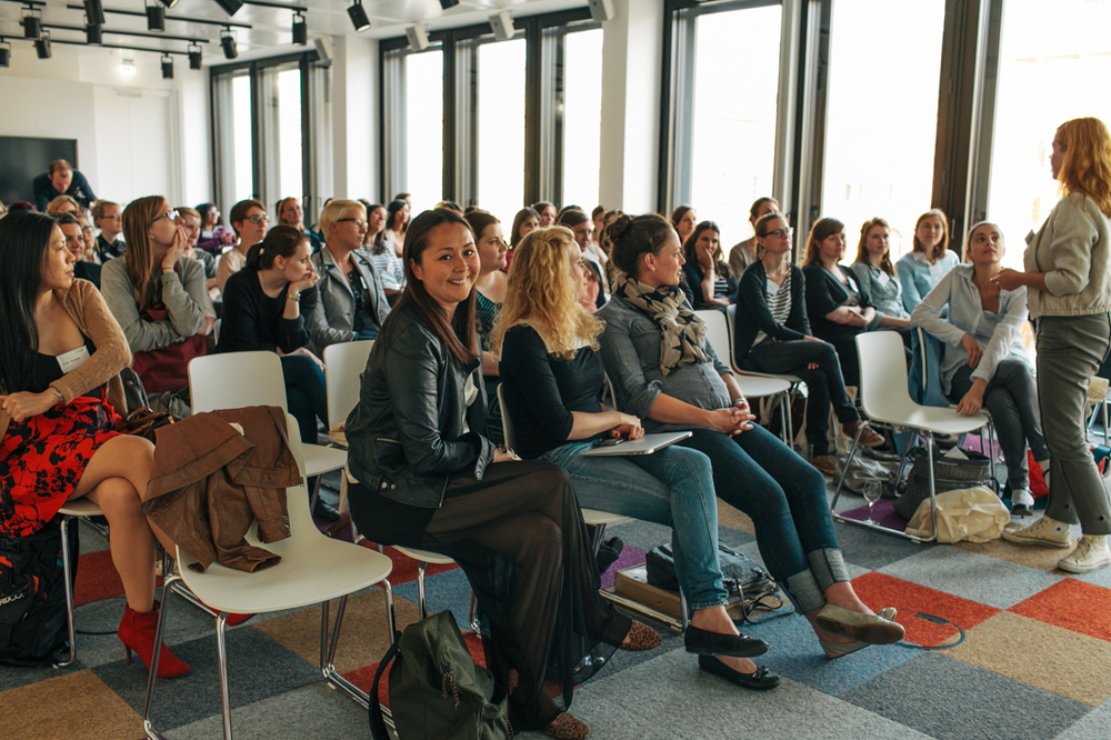 Jess Erickson, founder of Berlin Geekettes, attends one of her organization's meetings where women in the technology industry can find training, comradeship, mentors, career advice and jobs.