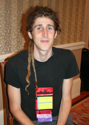 Moxie Marlinspike, in an old photo from Black Hat, continues to attack encryption protocols in his latest research at Defcon.