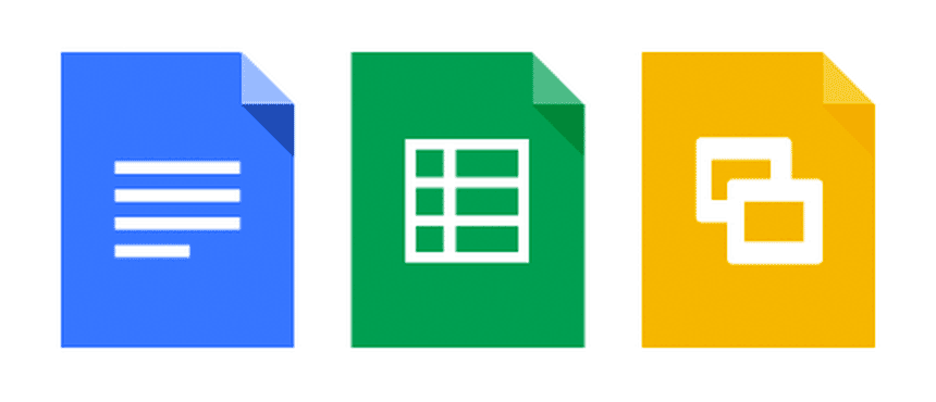 Google Apps includes tools for word processing, spreadsheets and presentations.