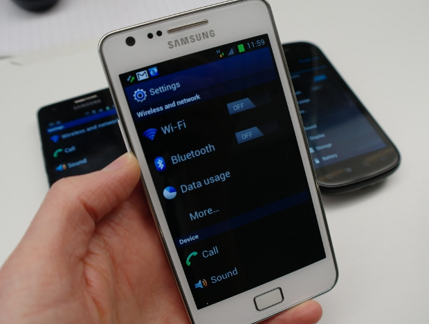 Samsung Galaxy S2 settings menu