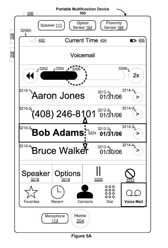 Apple's visual voice mail patent.