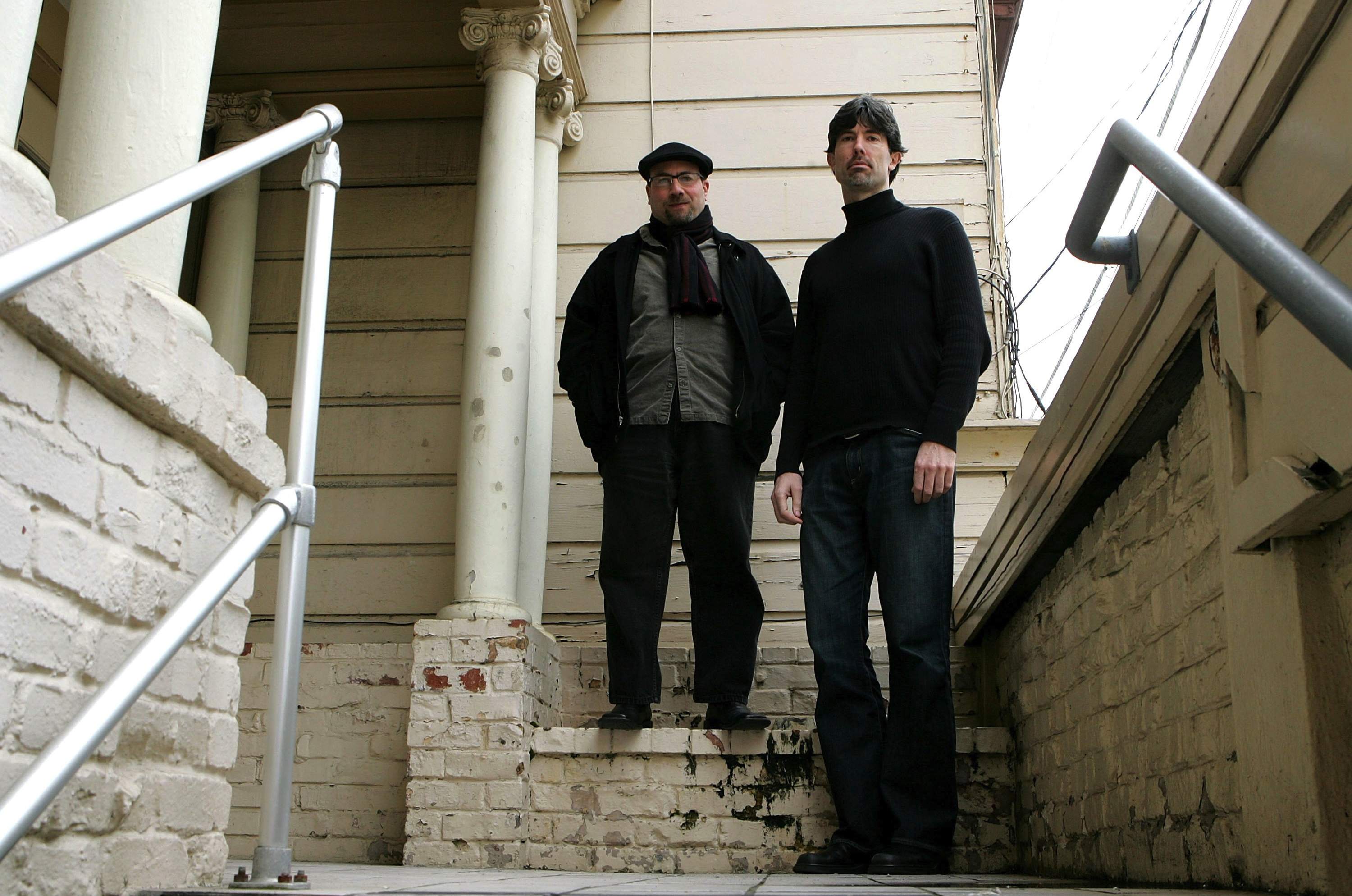 Craigslist founder, Craig Newmark, left, and Craigslist CEO Jim Buckmaster, shown in front of the company's offices in this file photo. Craigslist filed a high-profile lawsuit against scraping sites last year.
