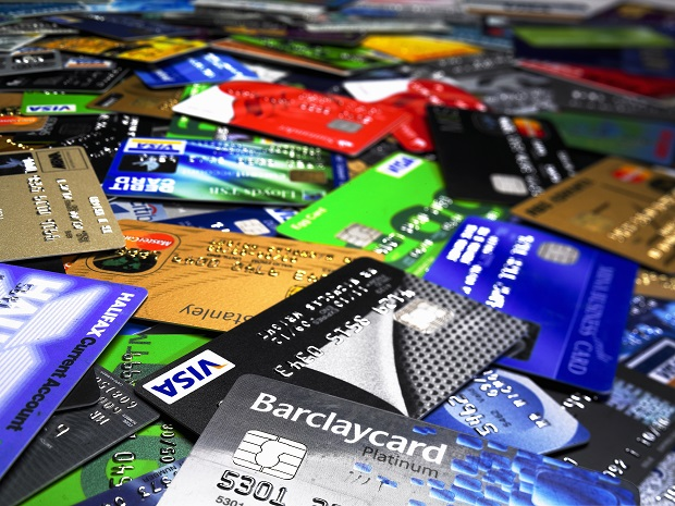 Image of a slew of various credit cards