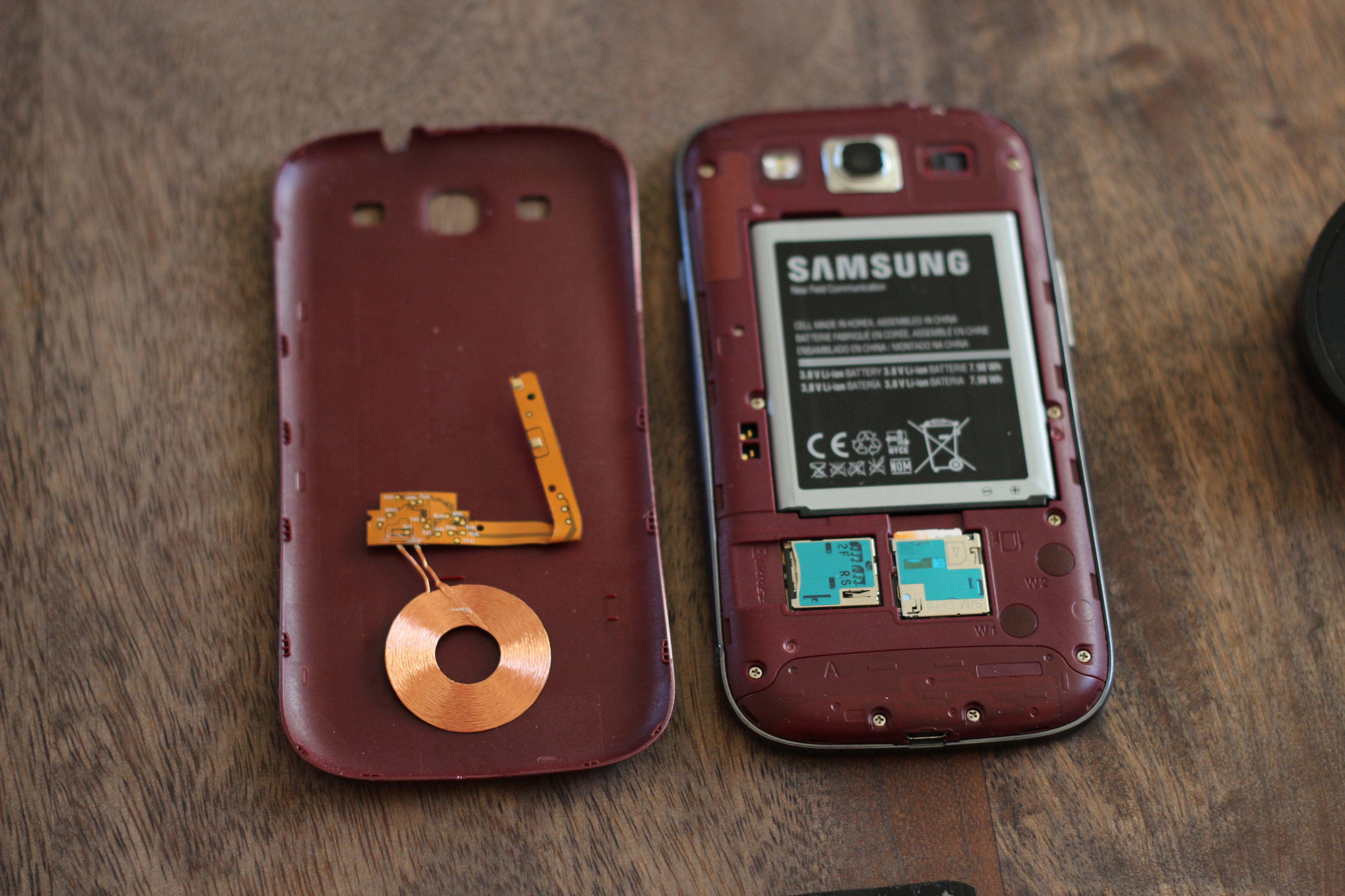 Place the components in your S3's backplate