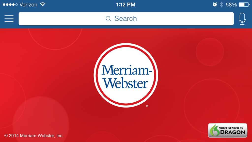 Merriam-Webster for iOS