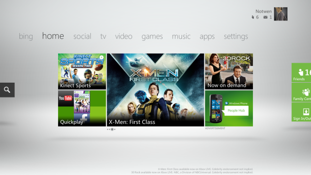 Movies, music, and videos lead usage on Xbox Live.
