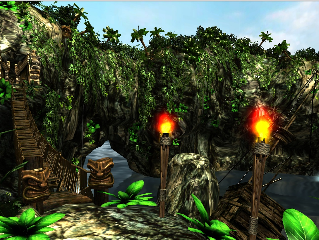 Google's O3D lets browsers show accelerated 3D graphics such as this island scene.