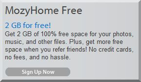 Use MozyHome Free for simple, automated backup of 2GB' worth of important data.