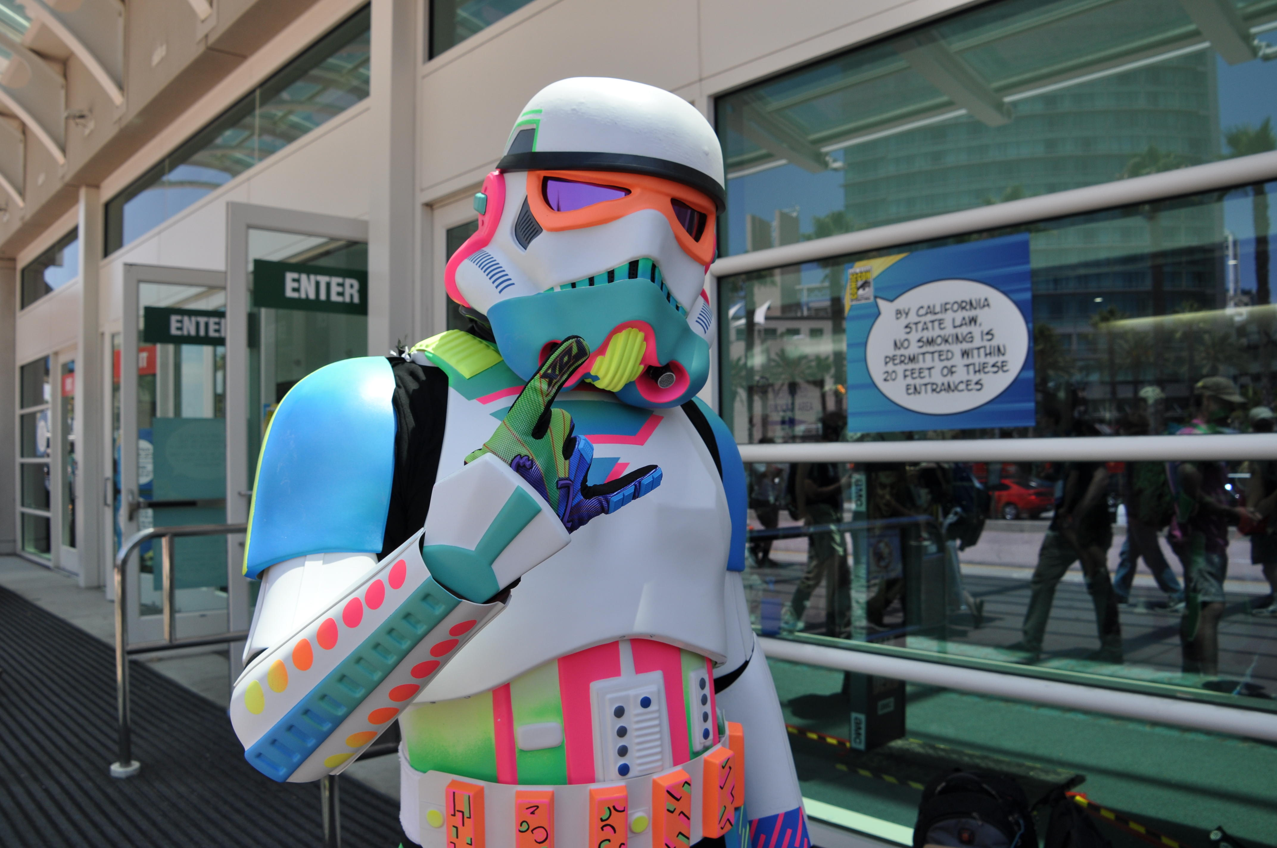 A colorful Stormtrooper