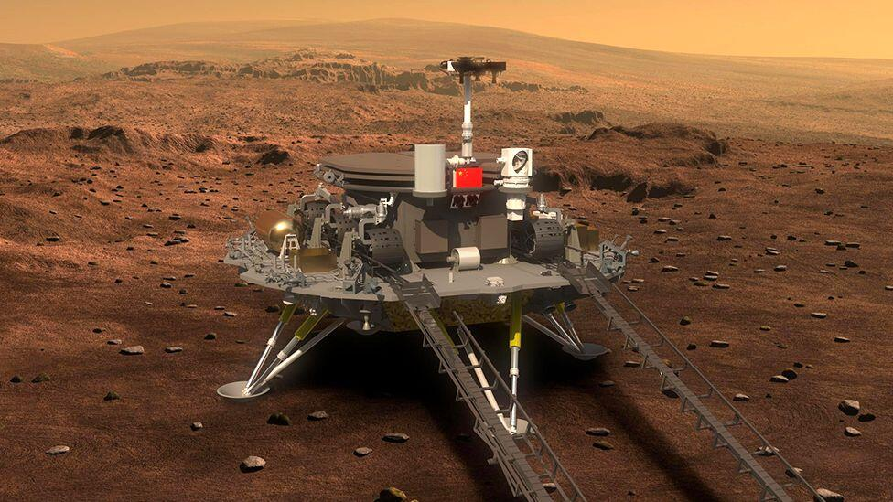 China Mars rover Zhurong makes historic landing on the red planet     – CNET