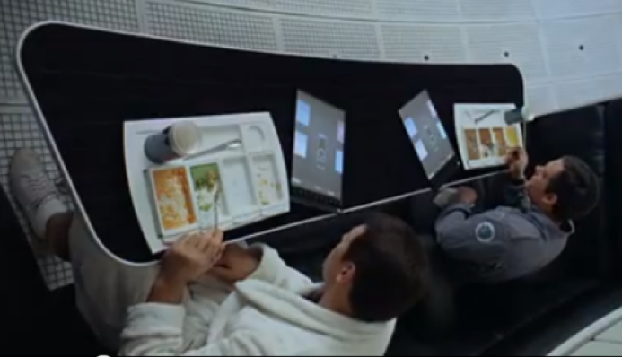 """These tablets from the 1968 film """"2001: A Space Odyssey"""" look just like Apple's iPad, Samsung said last week."""
