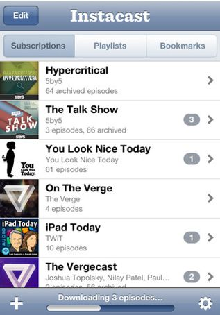 Instacast for iOS is even better in its new 2.0 incarnation.