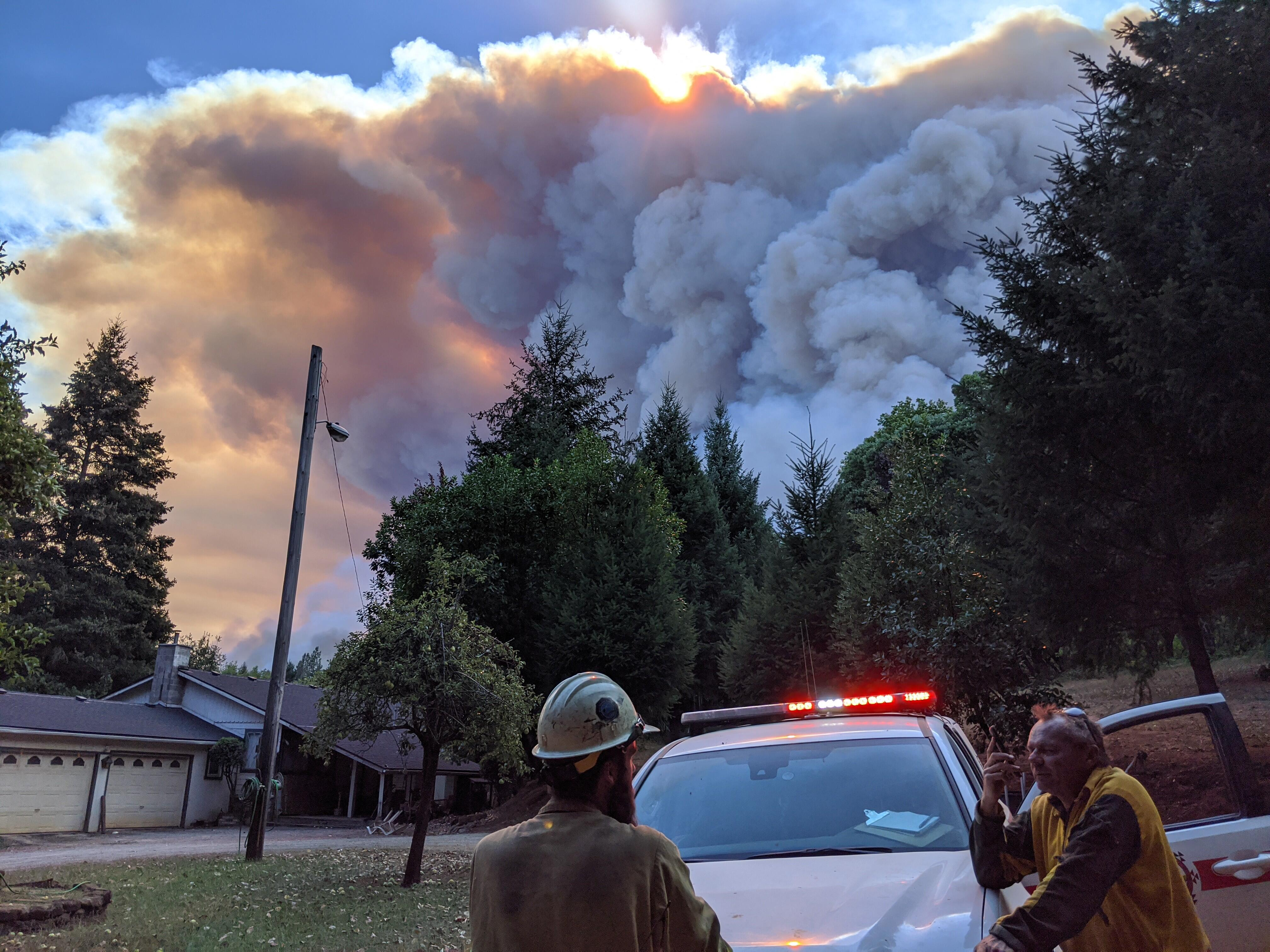 <p>Local authorities respond to the 2020 Slater fire in Happy Camp,  California.</p>