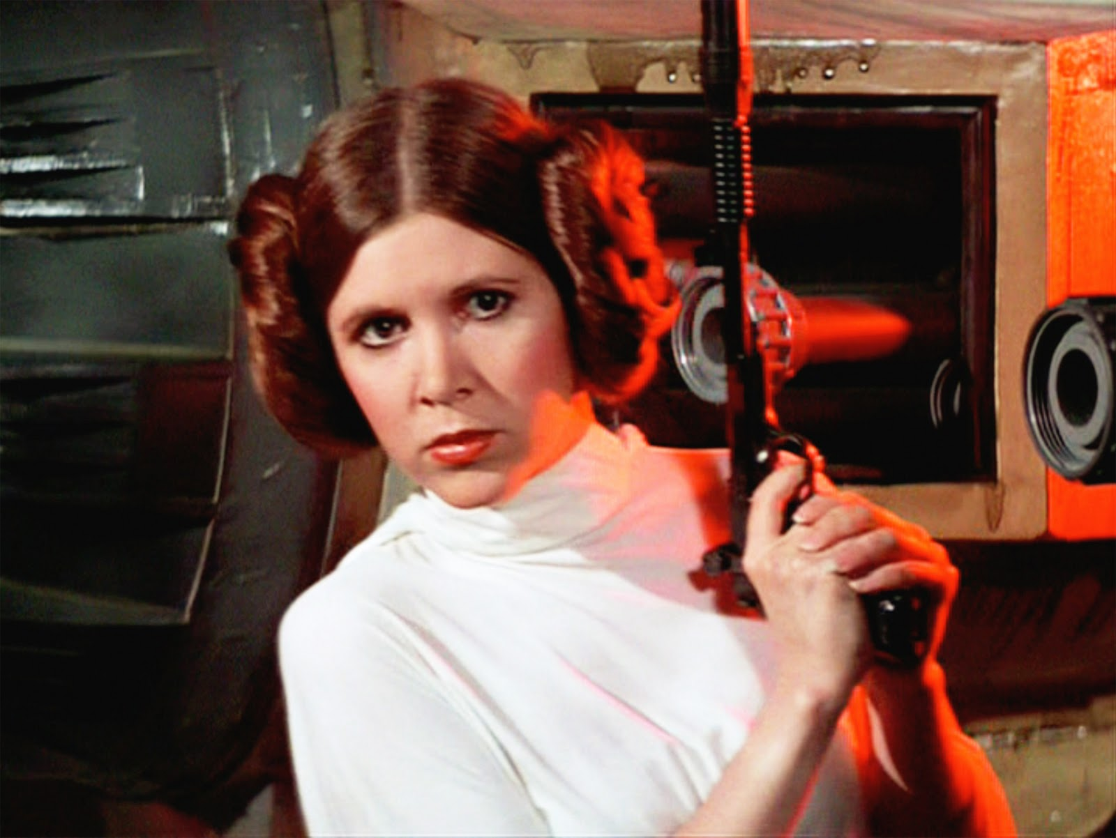 <p>Princess Leia never backed away from a fight, even when surrounded by Stormtroopers.</p>