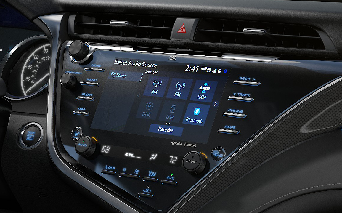 2018 Toyota Camry Entune 3.0 interface