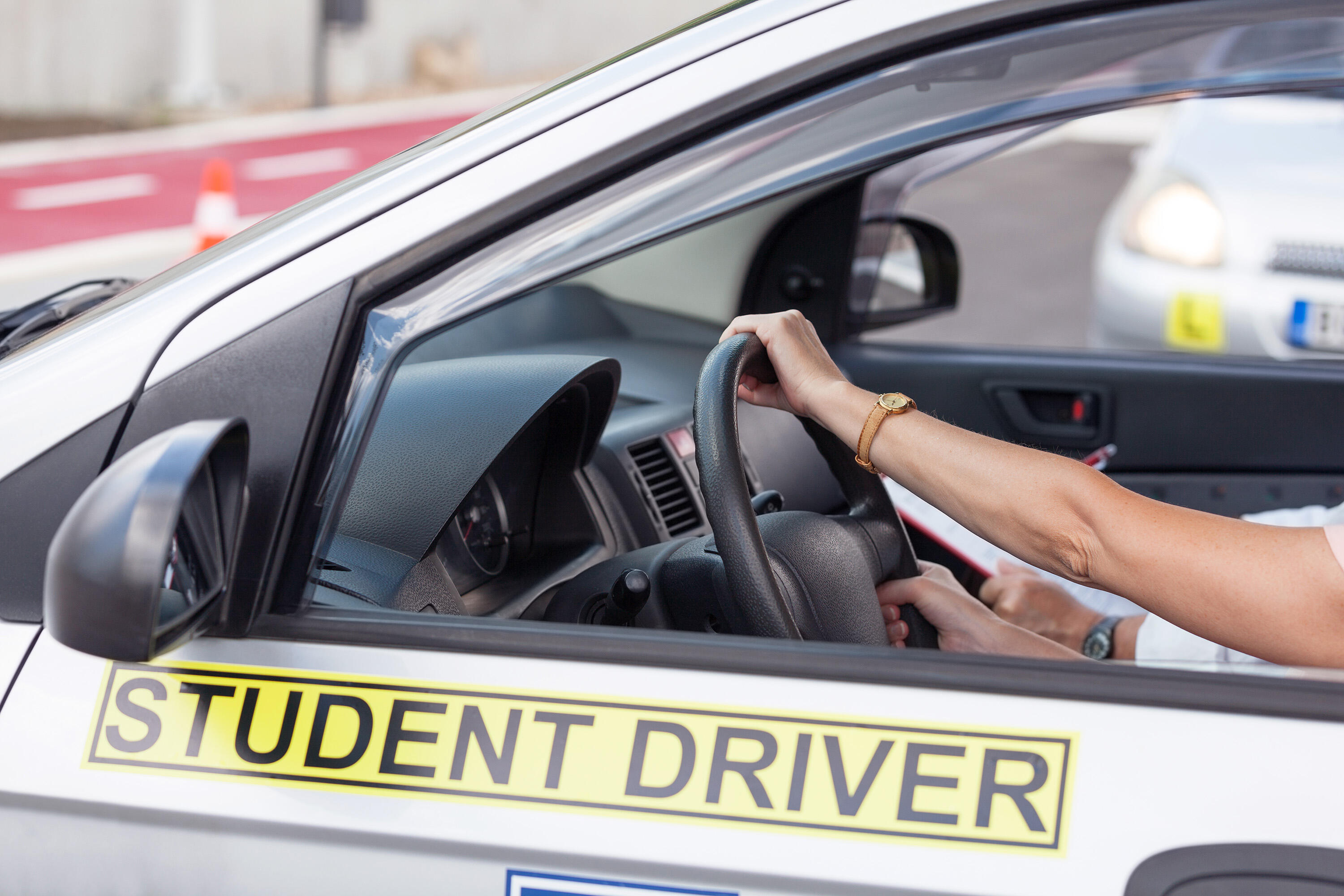 Student driver ROYALTY FREE