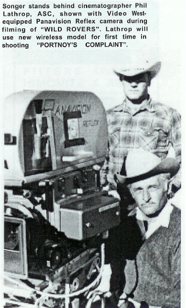 Jim Songer and a Panavision camera with video assist
