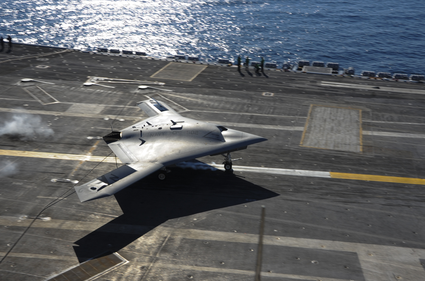 The X-47B prototype has proven to the US Navy that an autonomous drone can fit into operations on an aircraft carrier.