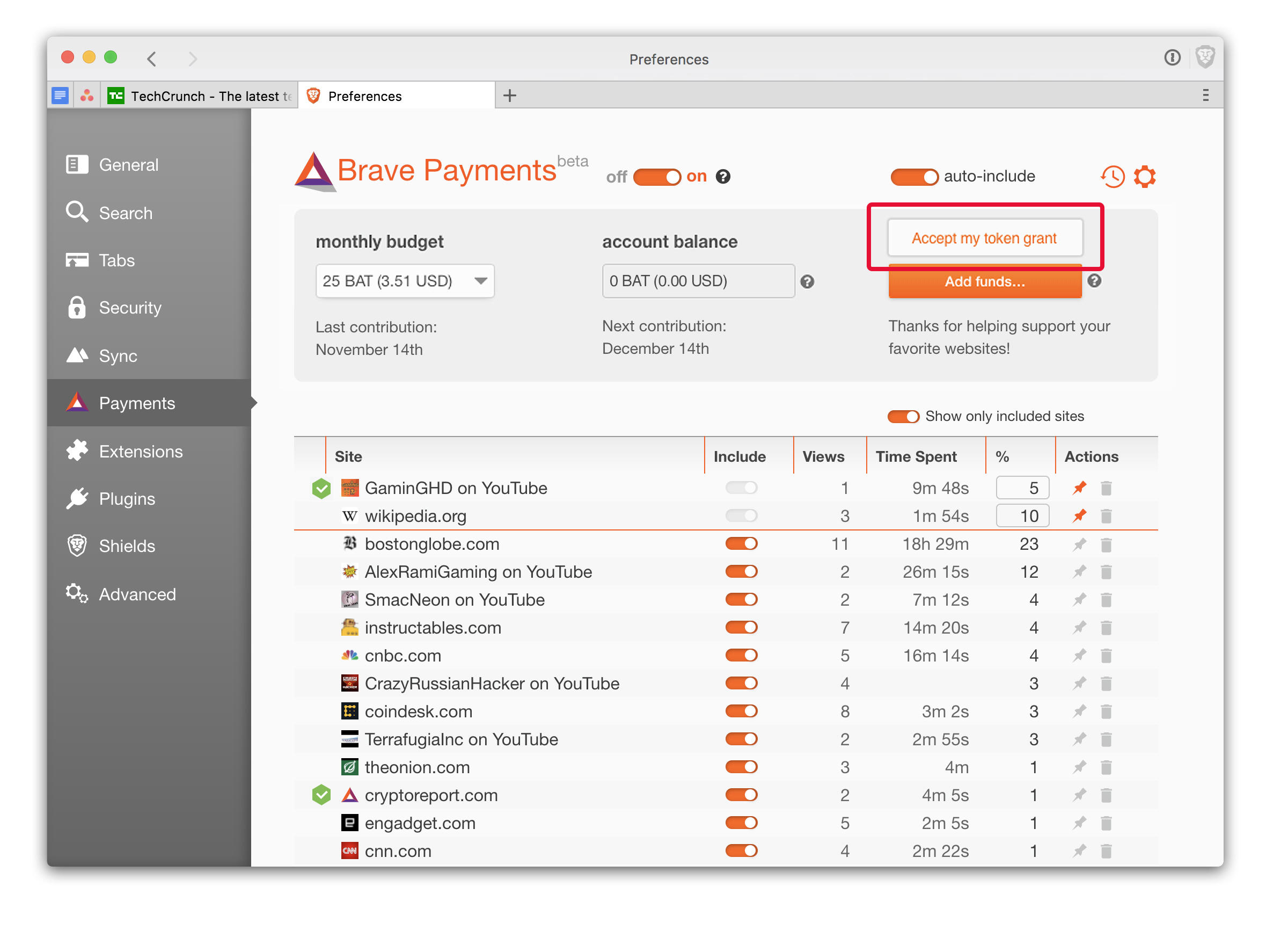 Brave will grant new and existing browser users digital currency that the browser can send to websites you visit.