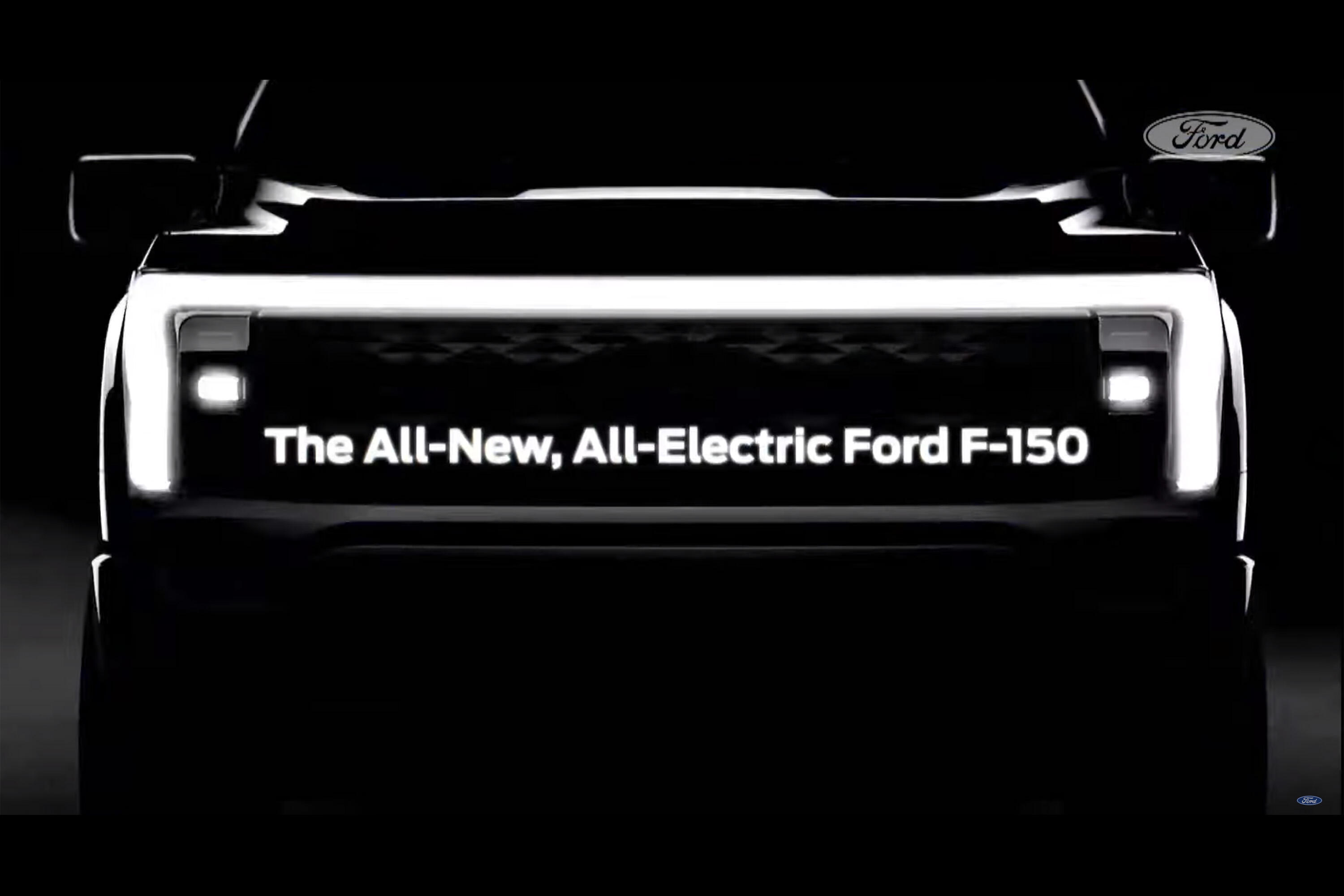 Ford F-150 EV teaser - all electric