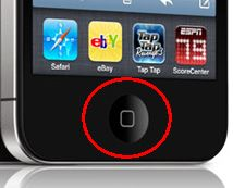 The Home button.