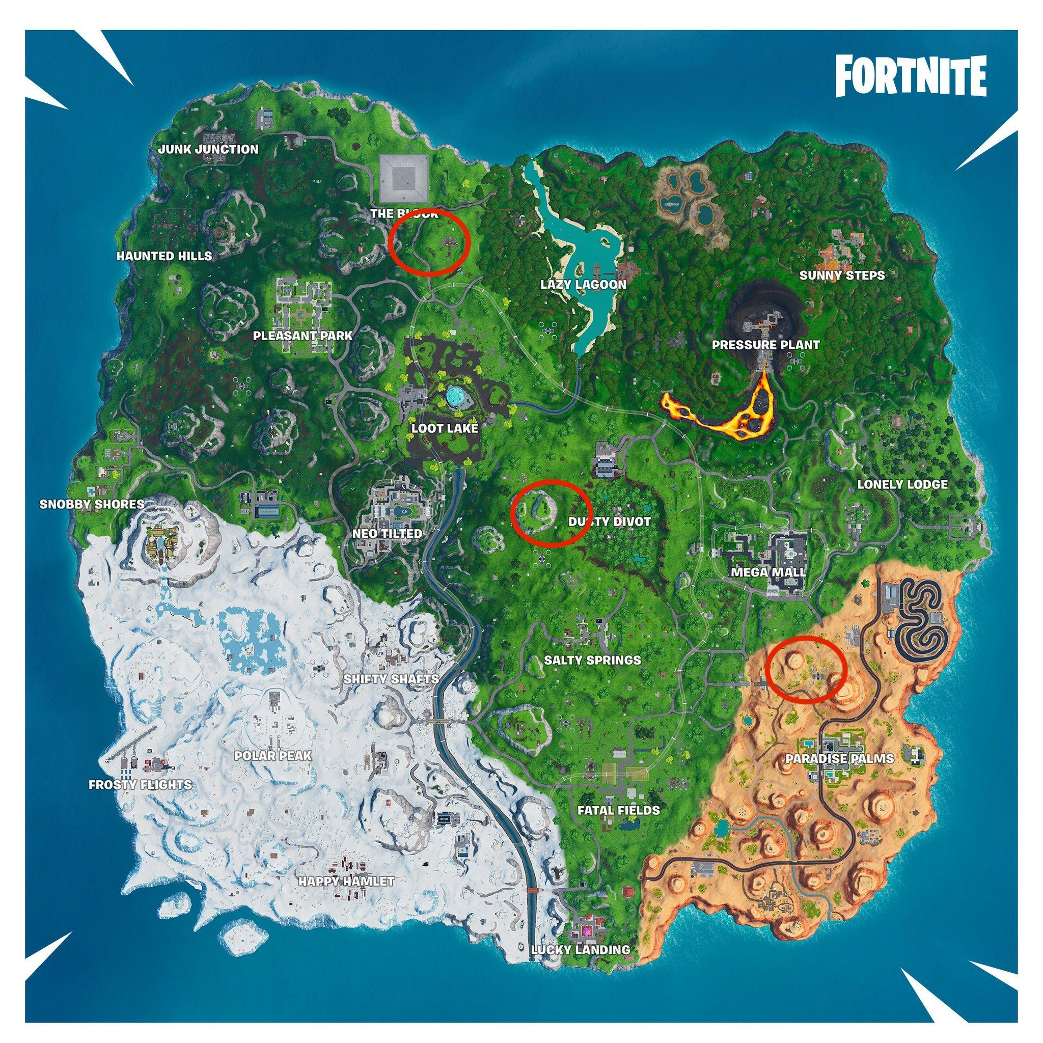 All Seven Waterfalls In Fortnite Fortnite Season 9 Week 7 Challenges And Where To Find The Giant Beach Ball Cnet