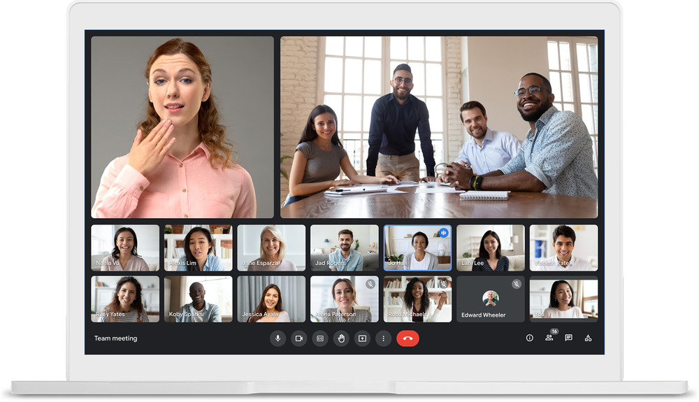 Google Meet gets more layout control, wallpaper for video