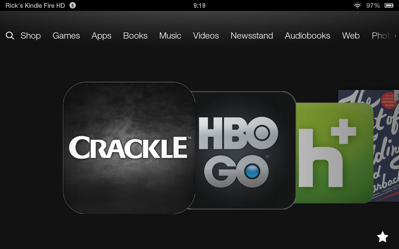 A generous library of streaming-media apps allows a Kindle Fire HD to give a Roku box a run for the money.