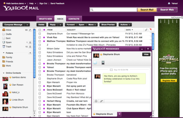 Yahoo's new design for Yahoo Mail, rolling out as an opt-in beta over the next several months.