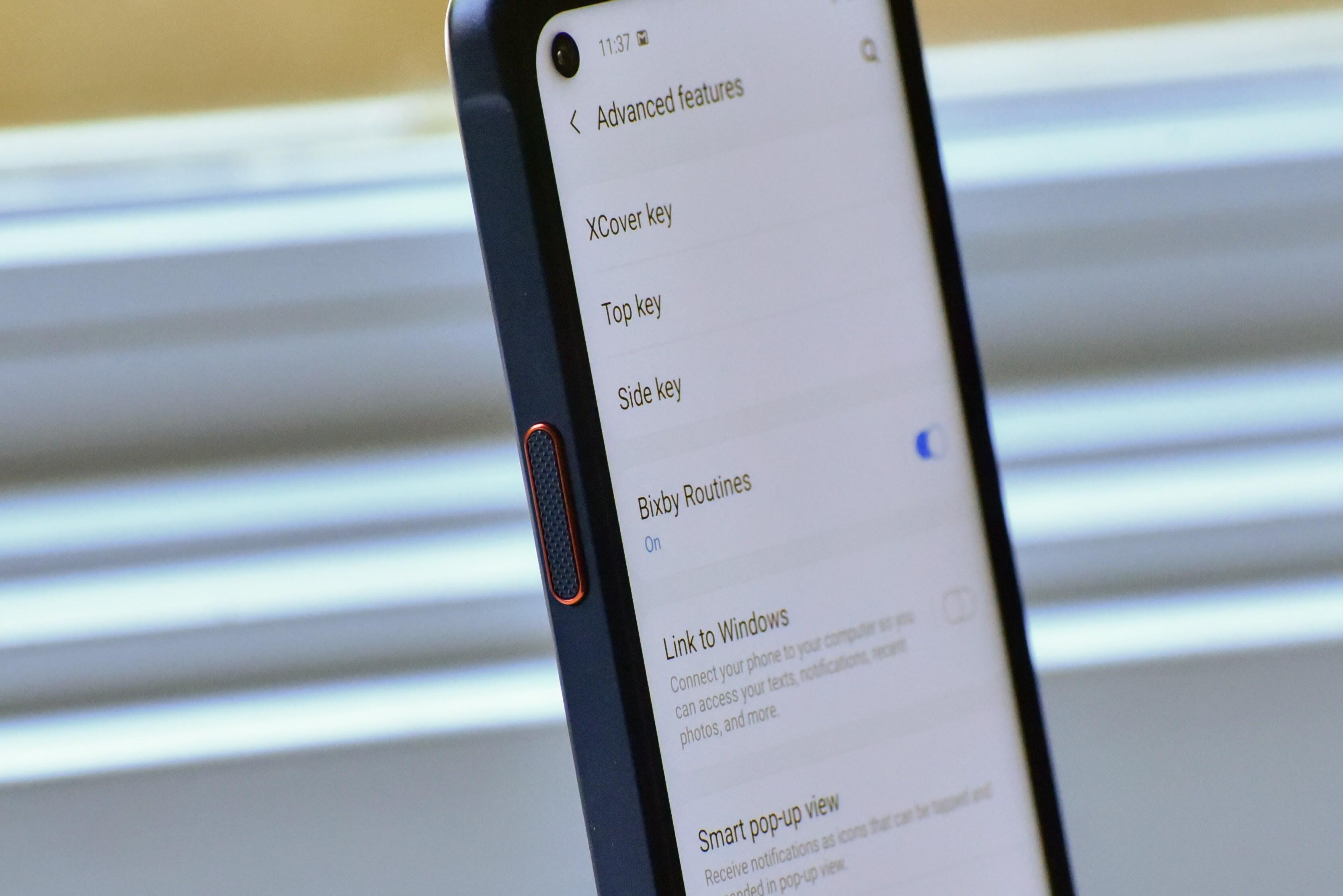 Push to Talk button on Samsung XCover Pro