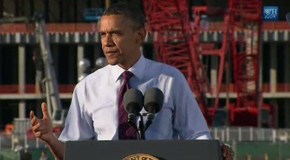President Obama visits Intel's Chandler Arizona facility last year when Fab 42 was being built.