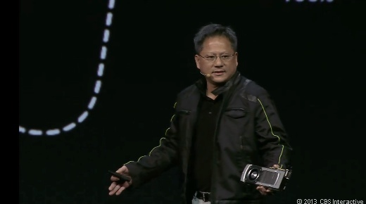 Nvidia CEO Jen-Hsun Huang speaks at GPU Technology Conference in March 2013.