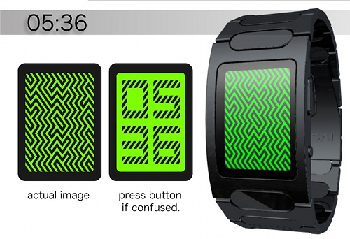 Optical Illusion concept watch