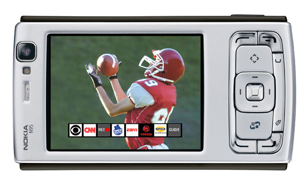 Symbian SlingPlayer running on the Nokia N95