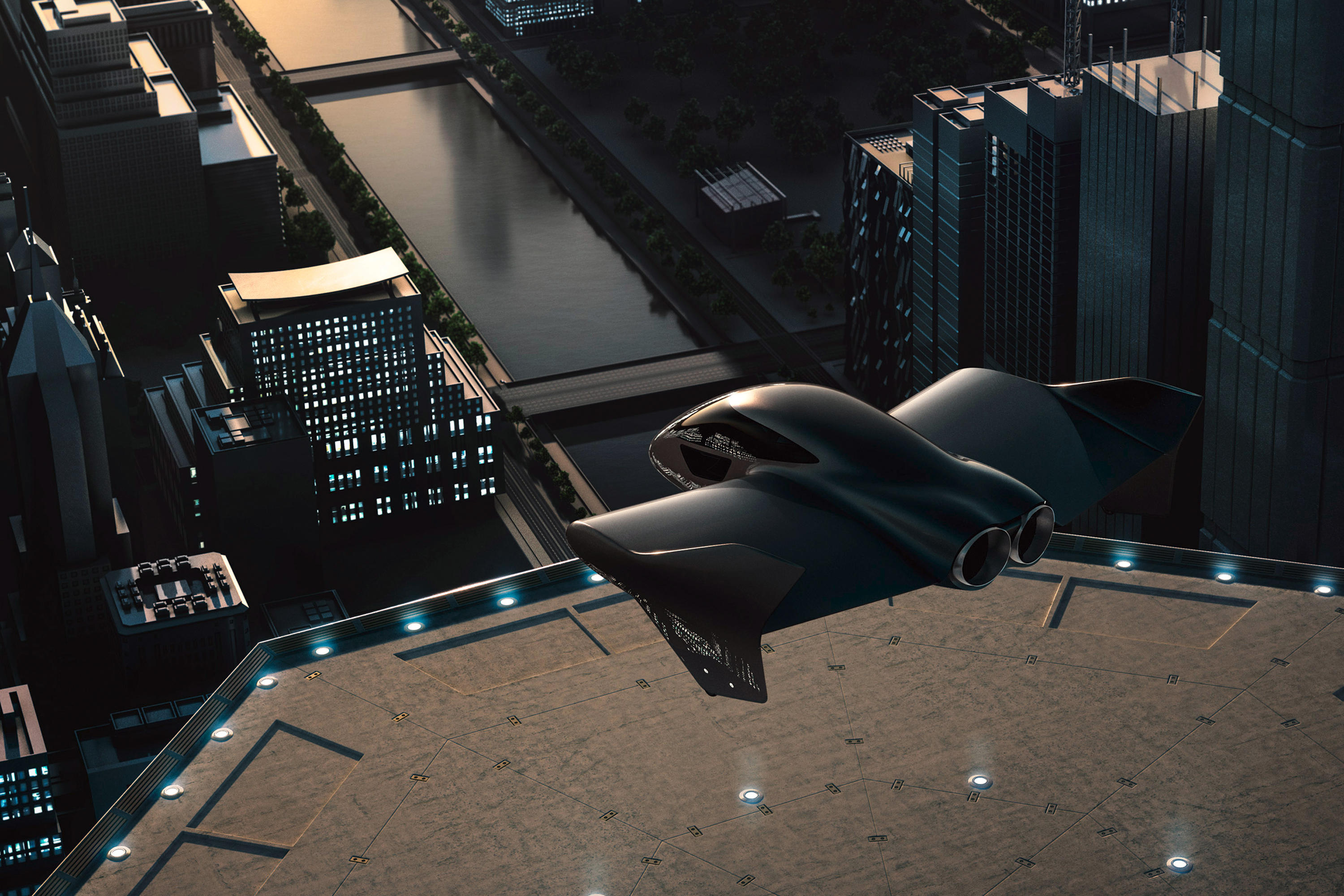 Porsche rendering for flying taxi