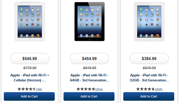 iPad discounts via Best Buy.