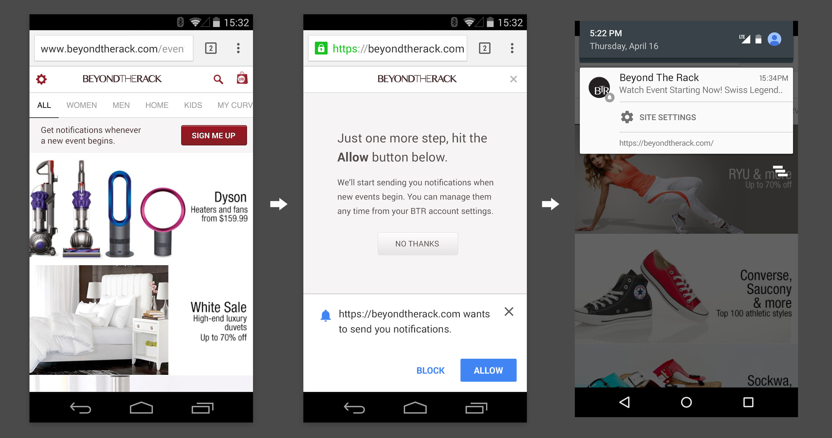 Chrome 42 will let websites send you notifications -- if you've agreed to it.