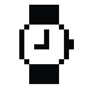 Watch icon - Susan Kare