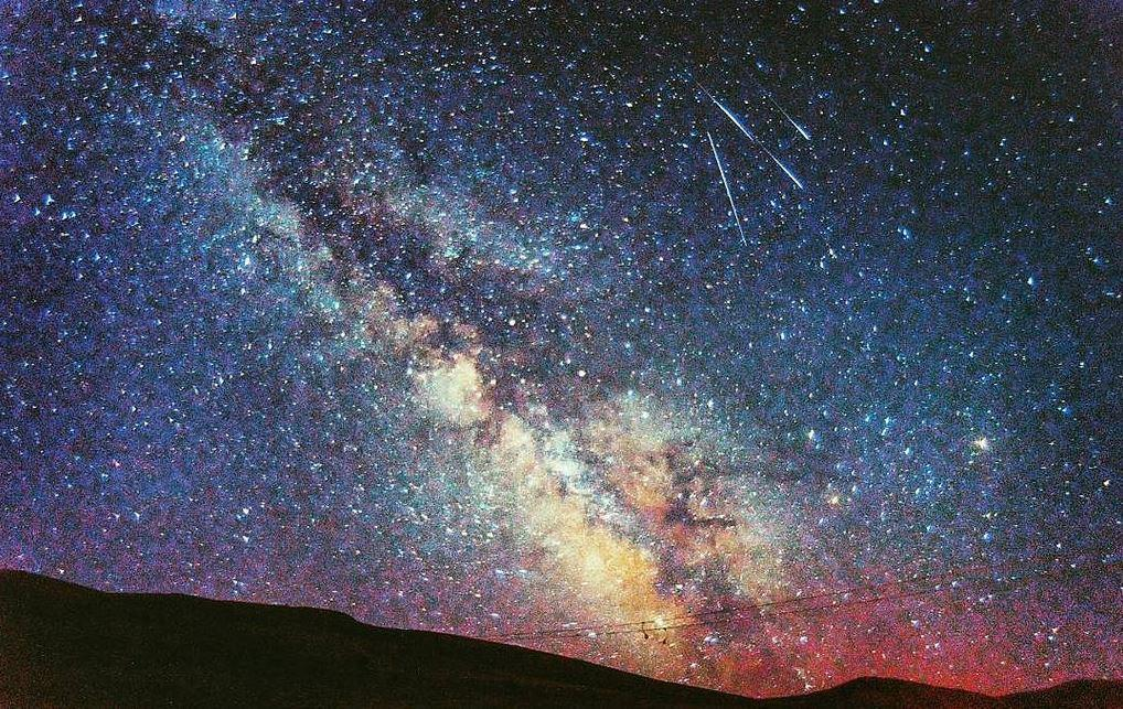 Milky Way and meteors
