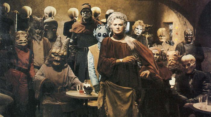 """Bea Arthur as Ackmena - the cantina bartender who serves drinks to every thirsty alien in the galaxy in """"Star Wars Holiday Special."""""""