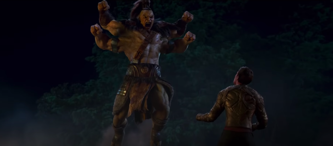 Goro's fight with Cole in Mortal Kombat