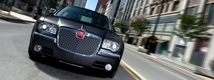 Chrysler 300 with Fiat badge