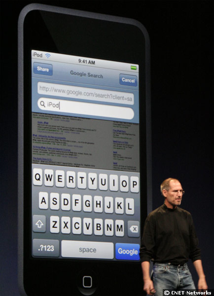 Steve Job introducing the iPod Touch.