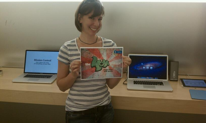 Laurie's birthday mission at the Apple Store.