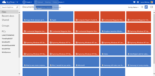 You can now drag and drop files within SkyDrive to move them.