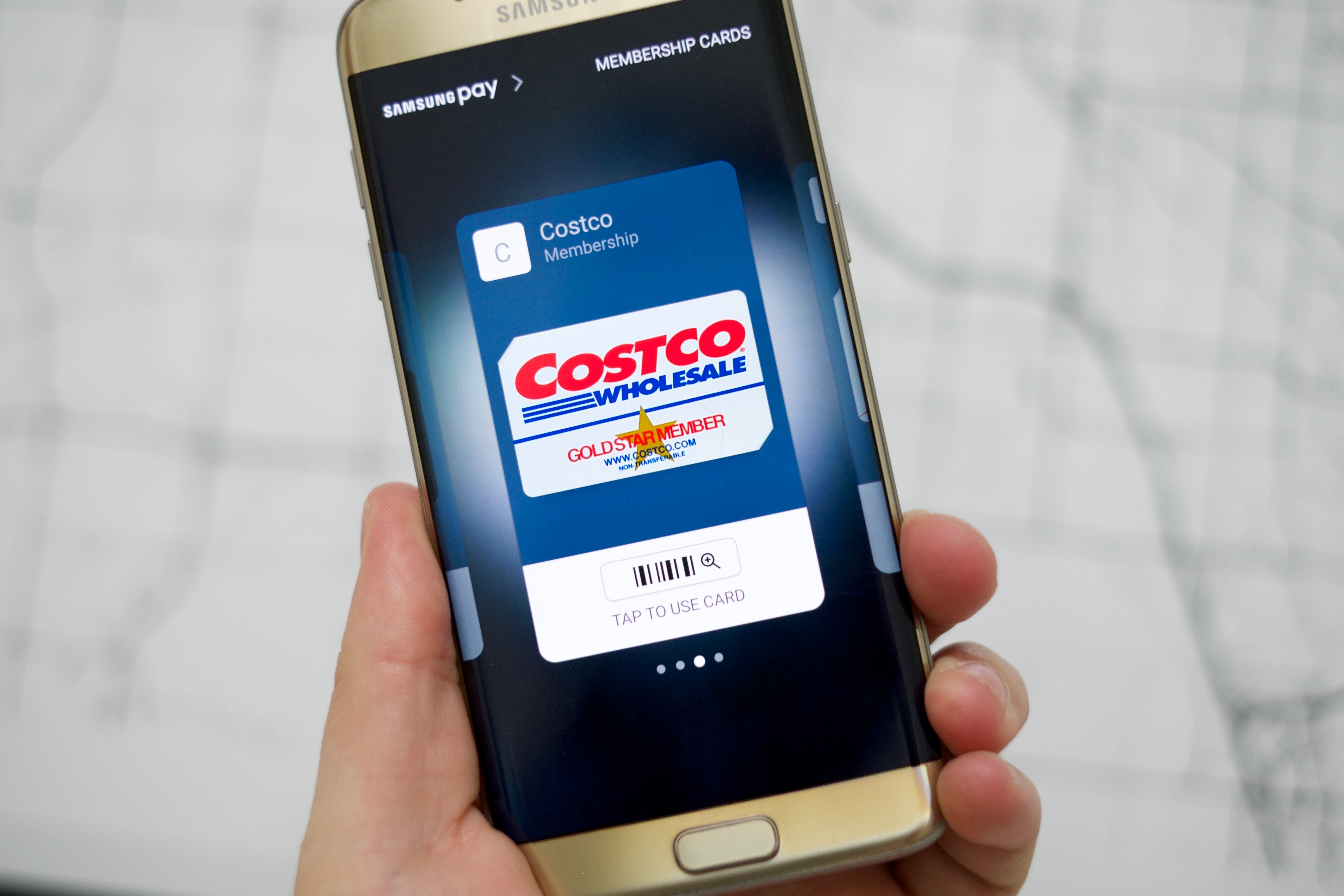 Samsung Pay lets you add loyalty cards to your mobile wallet.